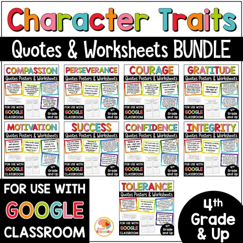 small resolution of Character Traits Quotes Posters and Activities MEGA BUNDLE with Digital  Option • Kirsten's Kaboodle