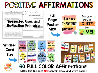 Positive Affirmations Full-Color Posters