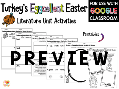 Turkey's Eggcellent Easter Activities PREVIEW