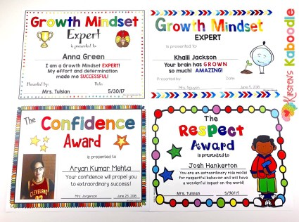 End-of-Year Awards Certificates