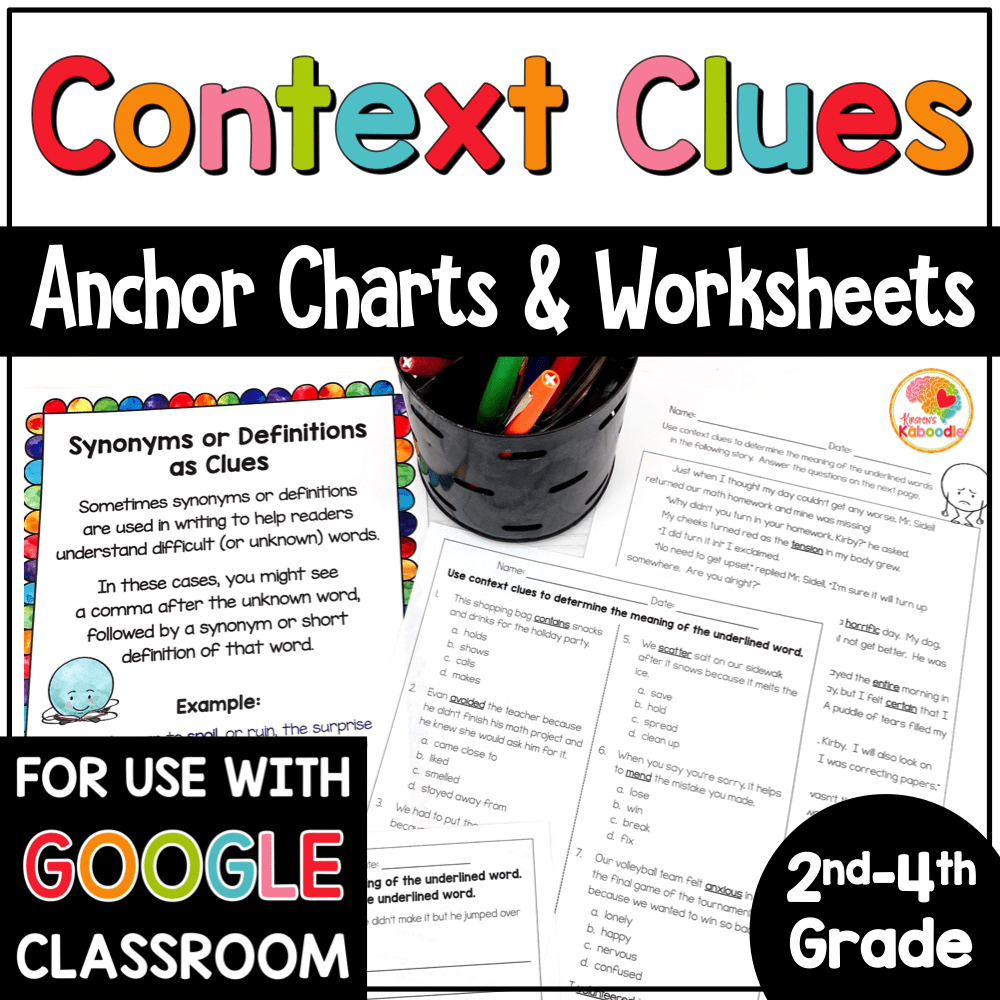 medium resolution of Context Clues Worksheets for 2nd