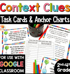 Context Clues Task Cards and Anchor Charts for 2nd-4th Grade with Digital  Distance Learning Option • Kirsten's Kaboodle [ 1000 x 1000 Pixel ]