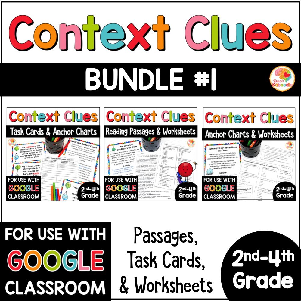 hight resolution of Context Clues Activities BUNDLE for 2nd