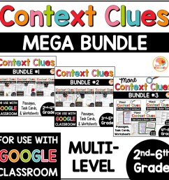Context Clues Activities MULTI-LEVEL MEGA BUNDLE with Digital Distance  Learning Option in Google • Kirsten's Kaboodle [ 1000 x 1000 Pixel ]