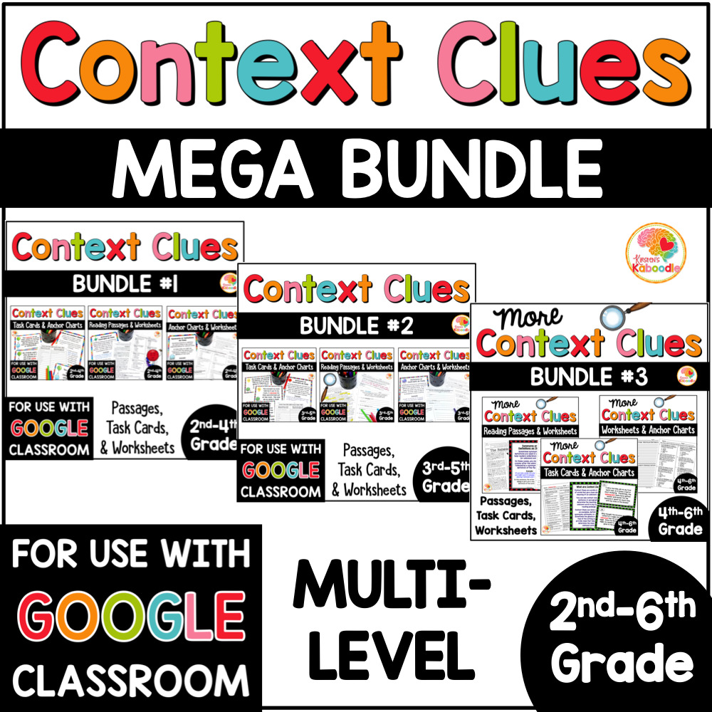 medium resolution of Context Clues Activities MULTI-LEVEL MEGA BUNDLE with Digital Distance  Learning Option in Google • Kirsten's Kaboodle