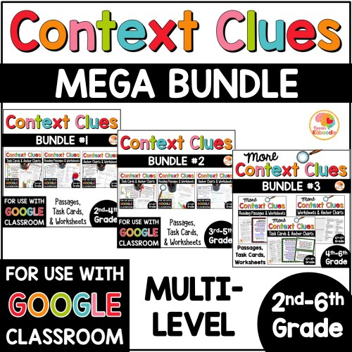 small resolution of Context Clues Activities MULTI-LEVEL MEGA BUNDLE with Digital Distance  Learning Option in Google • Kirsten's Kaboodle