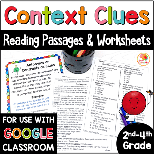 small resolution of Context Clues Reading Passages for 2nd