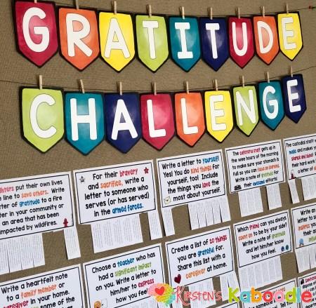 Gratitude Challenge Bulletin Board