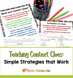 Teaching Context Clues Simple Strategies That Work [ 1201 x 1201 Pixel ]