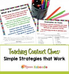 Teaching Context Clues Simple Strategies That Work [ 1201 x 1201 Pixel ]
