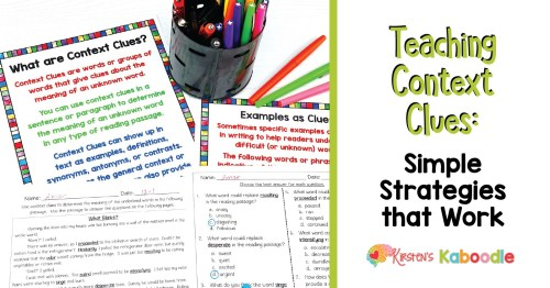 small resolution of Teaching Context Clues Simple Strategies That Work