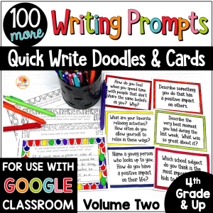 Quick Write Journal Prompts Volume Two COVER