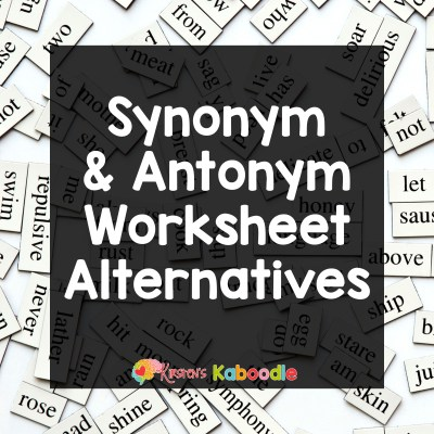 Are Synonym and Antonym Worksheets Bad?