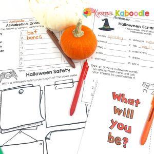 Halloweeen-worksheets
