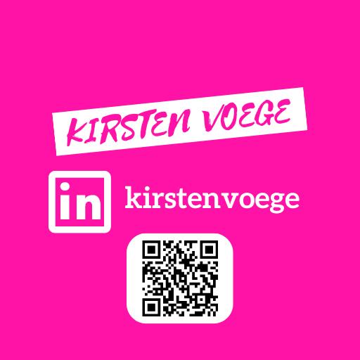 Kirsten Voege Social Media Feed LINKEDIN QR CODE