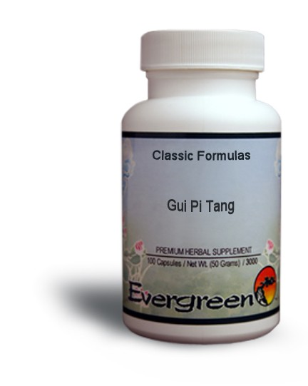 Gui Pi Tang - Evergreen Herbs in Capsules (100 count) - Classic ...