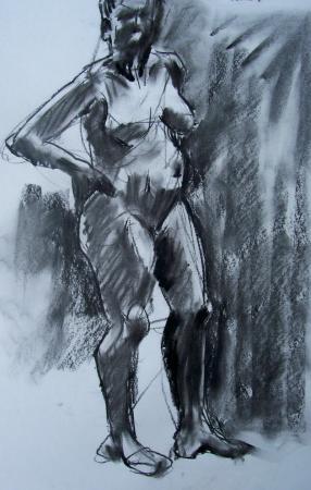 Standing nude - Kirstin White