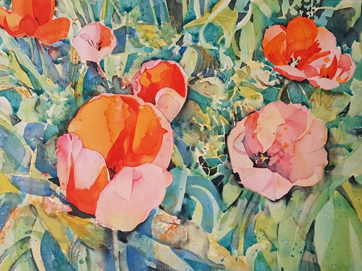 Tulips in Watercolour