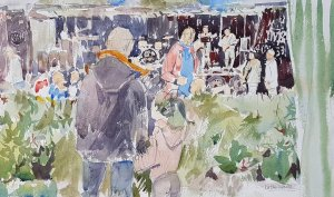 Party in the Park Watercolour