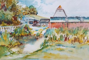 Witherington Farm watercolour