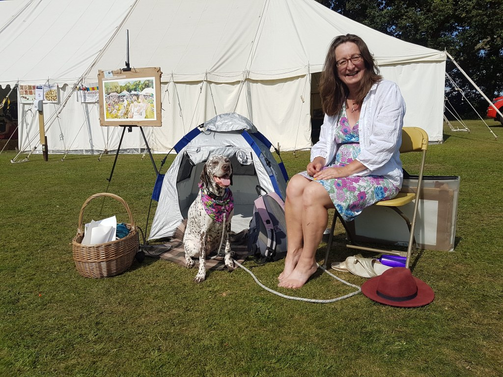 Kirstin White Event Painting at Curdridge Country Show