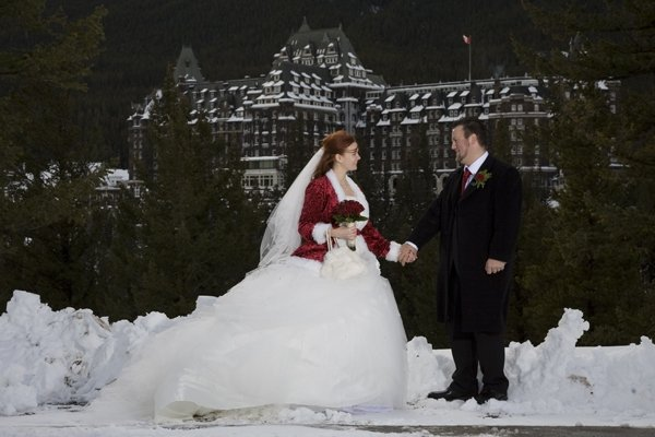 Married in banff canada (rocky mountains by fairmont banff springs)