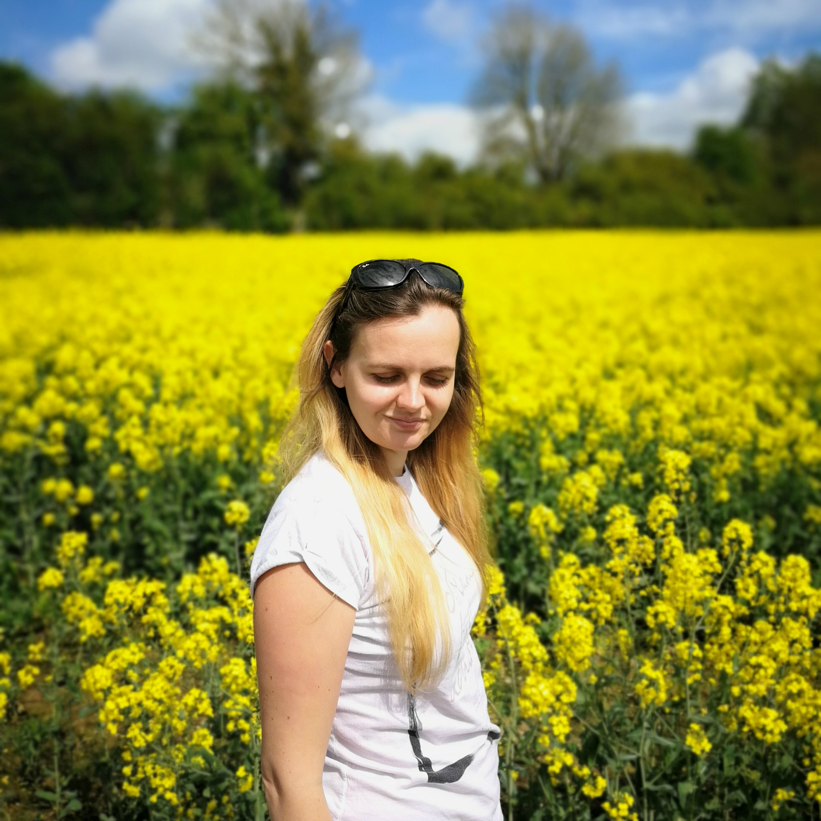 Enjoying Life in Rapeseed field