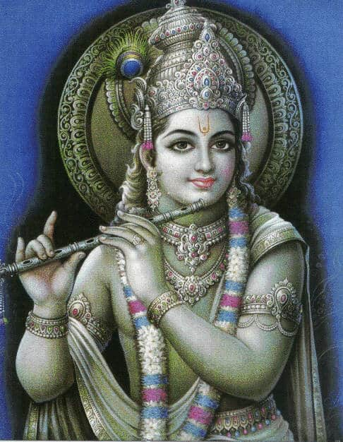 Krishna's goddelijke adem
