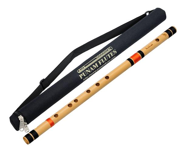 Профессиональная Флейта Бансури под правую руку | А(ля) чистая  60см