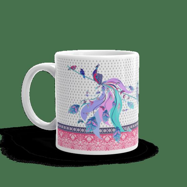 Coffee Mug with peacock print