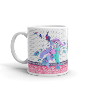 Coffee Mug with peacock print