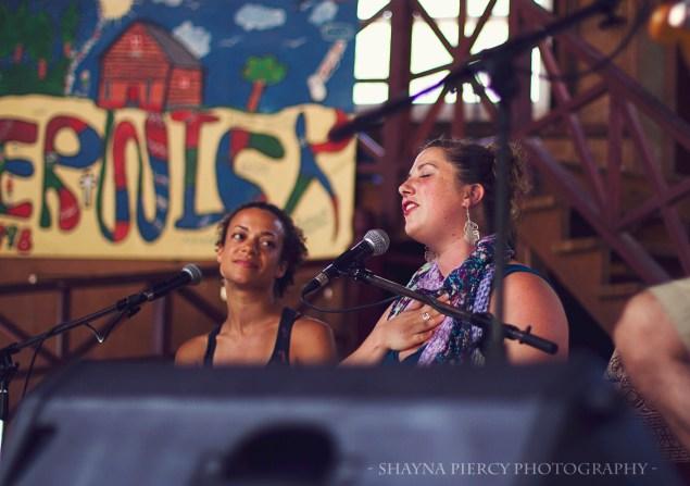Calia & Helen at Berwick Yoga Festival in Nova Scotia, Canada (photo by Shayna Piercy)