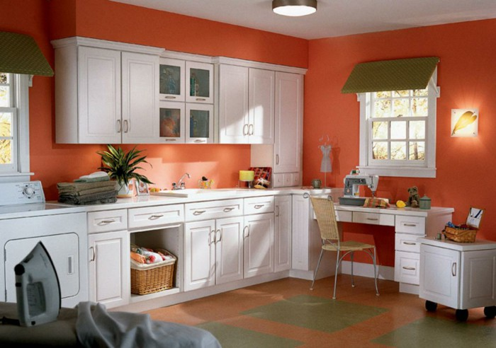 Dulux Salsa Red Kitchen Paint