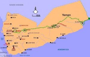 Peta Ma'rib, Yaman