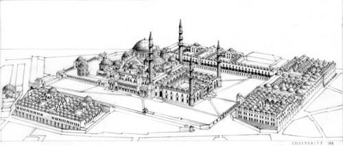 Bangunan komplek Masjid Sultan Sulaiman secara keseluruhan
