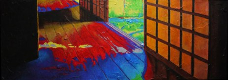 Koto-in. Acrylic on wood panel. Private collection.