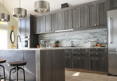 Staining Kitchen Cabinets Gray