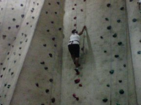 Never give up!! Me rock climbing 101