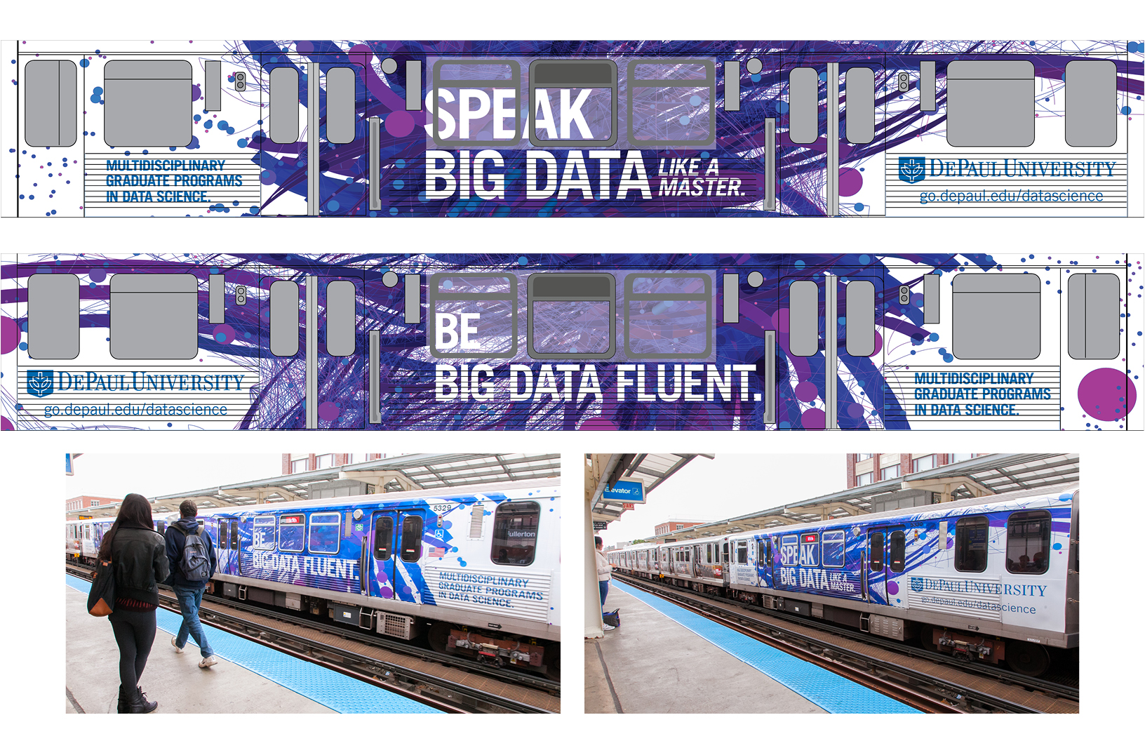 OOH - CTA Train Wrap