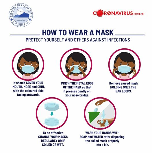 How to wear a mask infographic