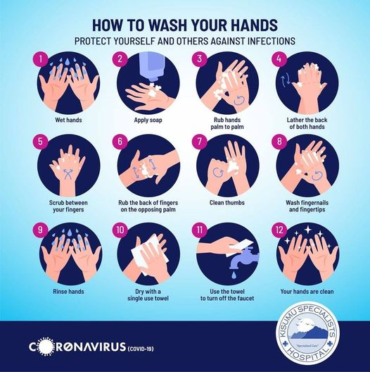 How to wash hands infographic