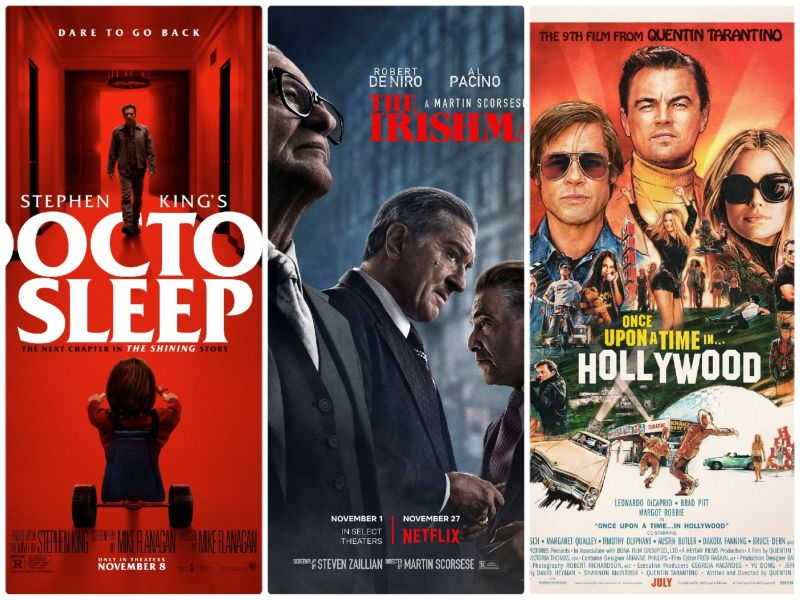 üç film birden: Once Upon a Time… In Hollywood, The Irishman, Doctor Sleep