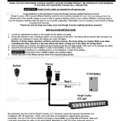 Led Bar Wiring Diagram Kenwood Kvt 516 Rough Country Install Help Needed Ford Truck