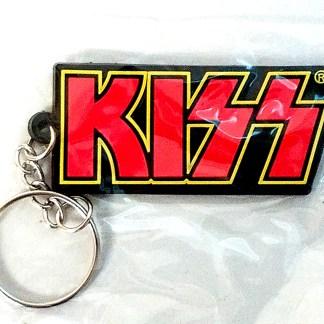 KISS logo rubber keychain