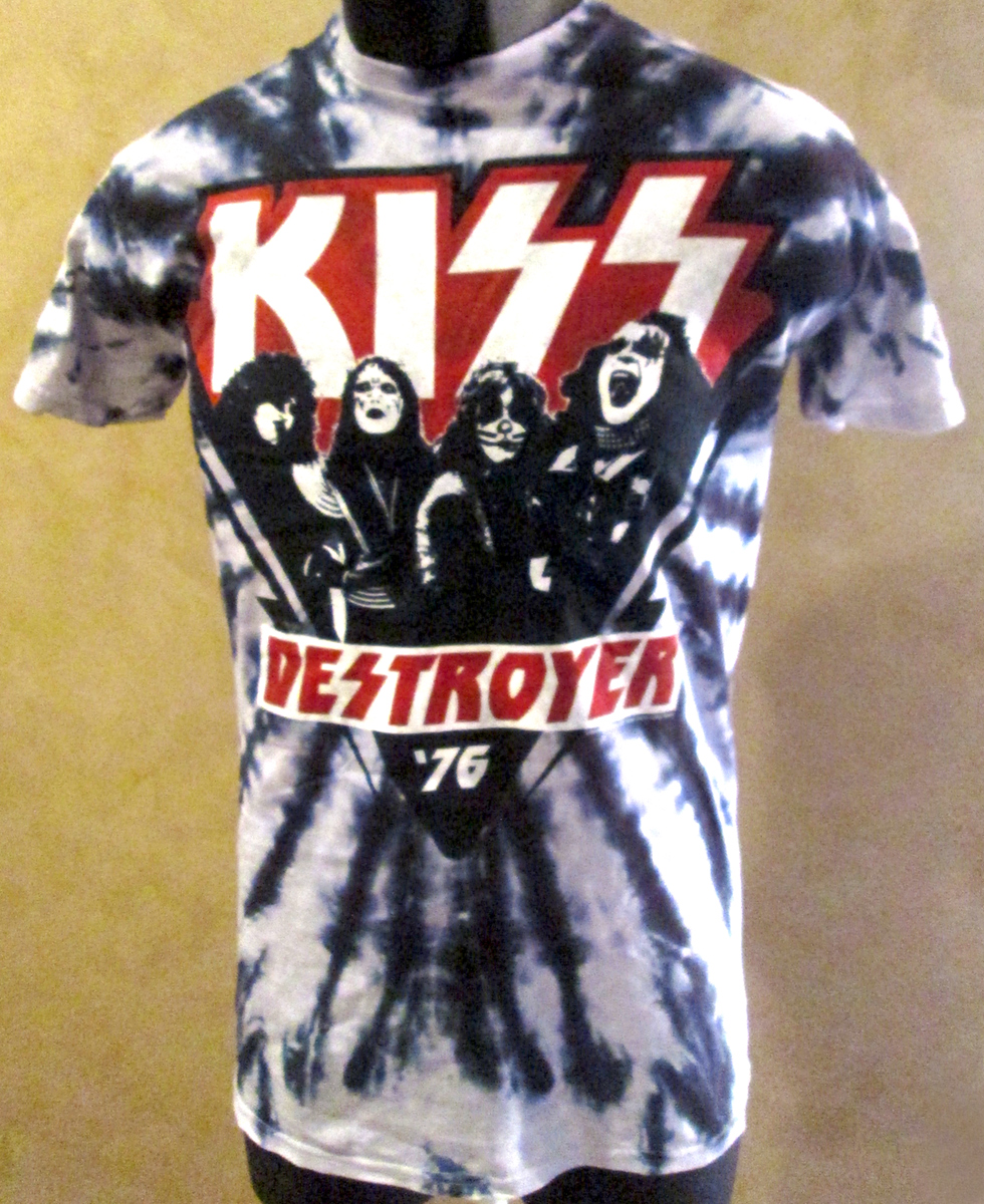 New KISS Destroyer Tie Dye T Shirt