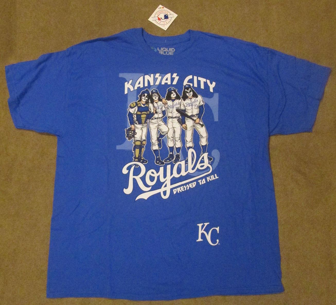 3cc90df6 Men's Kansas City Royals KISS Dressed to Kill Baseball T-shirt - 2XL