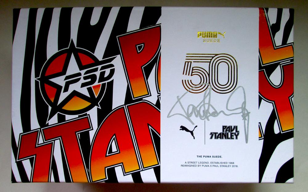 best service 2ef1f a5c8c Paul Stanley Autographed Box Puma Suede Classic Sneakers