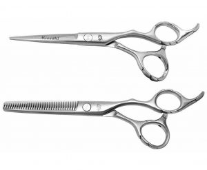 Futasuji 5.5″ Hair Scissors & Ishizuki 32t Thinning Shears Set