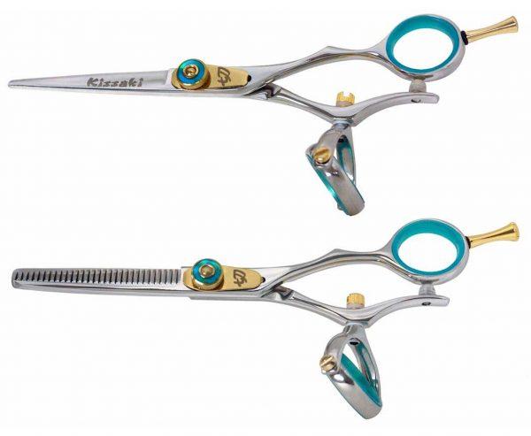 Gokatana 5.5″ B & Kanagawa 30 tooth B Hair Scissors Double Swivel