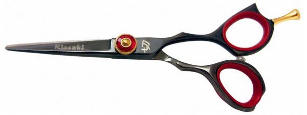 Sensuki 5.0″ Hair Scissors Black R Titanium Hair Shears